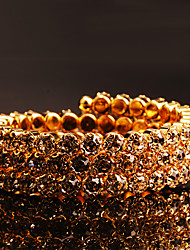 Bracelet/Wrap Bracelets Copper / Rhinestone Circle Fashionable Wedding / Party / Daily Jewelry Gift Gold1pc
