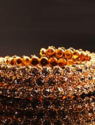 Bracelet/Wrap Bracelets Copper / Rhinestone Circle Fashionable Wedding / Party / Daily Jewelry Gift Gold1pc