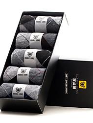 DOUBLE LIONS Men's Polyester Socks 5/box-MM0025