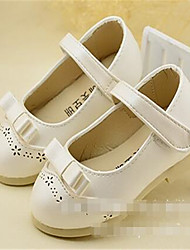 Boy's Sneakers Fall Flats Leather Casual Flat Heel Buckle Pink White Gold Others