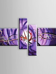 Hand-painted Oil Paintings Abstract Purple Phoenix Red White Flowing Lines  Wall Art Stretched Frame Ready To Hang