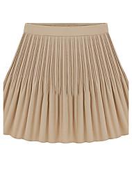 Damen Röcke - Einfach Mini Polyester Unelastisch