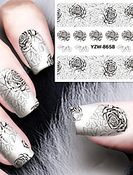 Rose Lace Nail Sticker Decal Fingertip Watermark