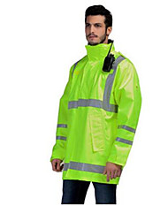 Traffic Safety Protection Waterproof Fluorescent Yellow Jacket Clothes