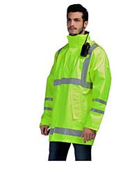 protecção de segurança de tráfego fluorescentes à prova d'água roupas casaco amarelo