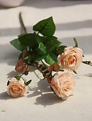 1 Une succursale Polyester Roses Fleur de Table Fleurs artificielles 52cm