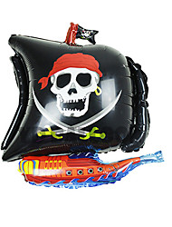 1pc navires pirates aluminium film de te ballon pour costume de halloween