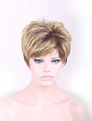 Cheap Bob Wig For Womens Short Wigs Synthetic Hair Heat Resistant Wig Cosplay Brown Blonde Ombre