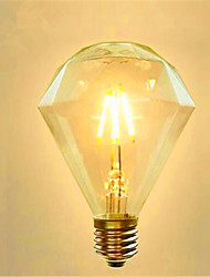 G95 Diamond LED Edison Light Bulb Scene Retro Energy Saving 220V 4W 2300K E27 (Warm Yellow)