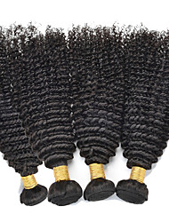 Top Grade 4pcs/Lot 12-28inch Peruvian Virgin Hair Natural Black Kinky Curly Raw Human Hair Weaves Wholesale