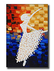 Modern Wall Art Oil Painting Abstract People Dancer Hand Painted On Canvas With Stretched Frame
