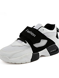 Men's Athletic Shoes Spring / Fall Comfort / Round Toe PU Athletic Flat Heel Others / Hook & Loop / Lace-up Bla