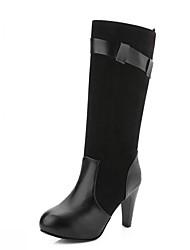 Damen-High Heels-Hochzeit Büro Kleid Lässig Party & Festivität Work & Safety-Kunststoff Lackleder Kunstleder-Blockabsatz-Cowboy / Western