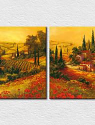 Canvas Set Landscape Modern Two Panels Canvas Vertical Print Wall Decor For Home Decoration