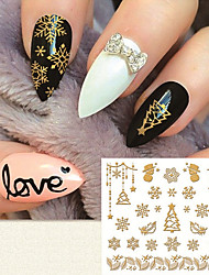 Fashion Gilding 3D Christmas Element  Nail Stickers