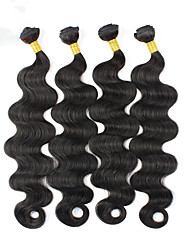 Menschenhaar spinnt Peruanisches Haar Große Wellen 4 Stück Haar webt