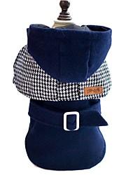 Dog Coat Hoodie Dog Clothes Winter Spring/Fall Princess Fashion Keep Warm Red Blue