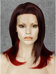 Spitze-Perücke Perücken für Frauen Burgund Kostüm Perücken Cosplay Perücken