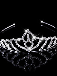 The New Fashion Crown Head Wreath Head Dress Rhinestone Flower Shape