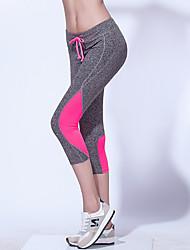 Corrida Fundos Mulheres Respirável / Macio Náilon Chinês Ioga / Pilates / Exercicio e Fitness / Corrida Esportivo® Stretchy Delgado