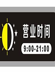 horário comercial de sinais de acrílico de alta qualidade personalizado trabalhando business card horas dicas em uma determinada lista