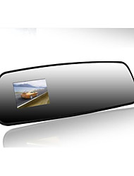 Driving Recorder Rear View Mirror 2.4 Inch Night Vision Wide Angle High Definition Travelling Data Recorder