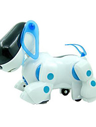 Machine Dog Light Up Plastic White / Blue Music Toy For Kids