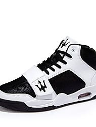 Men's Sneakers Spring / Fall Comfort Leather Outdoor / Athletic / Casual Lace-up Black / White Basketball / Walking /