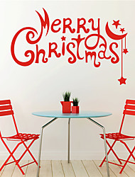 AYA DIY Wall Stickers Wall Decals Christmas Festival Merry Chritmas Style PVC Stickers 55*36cm
