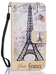 Pour Coque Huawei P9 P9 Lite P8 Lite Porte Carte Portefeuille Avec Support Coque Coque Intégrale Coque Tour Eiffel Dur Cuir PU pour Huawei