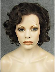 imstyle 10natural коричневый большой вьющиеся синтетический парик шнурка передние волосы