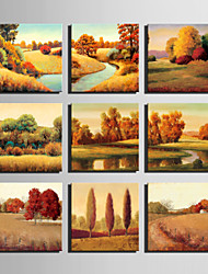 E-HOME® Stretched Canvas Art Autumn Scenery Series Decoration Painting MINI SIZE One Pcs