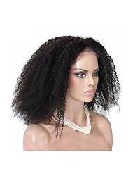 """20 """"-24"""" perruques de dentelle afro crépus vierge 100% cheveux humains couleur naturelle brazilian non transformés bouclés"""