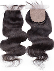 Top Quality 4x4 Silk Base Closure Body Wave Remy Hair Closure Medium Brown Swiss Lace about 30g gram Average Cap Size