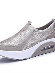 Women's Platform / Creepers PU / Leatherette Casual Flat Heel Slip-on Black / Silver Walking EU36-40