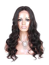 Cabelo humano virgem brasileiro 360 perucas frontais do laço do naturalcolor da onda do corpo do naturalcolor 360 com cabelo do bebê