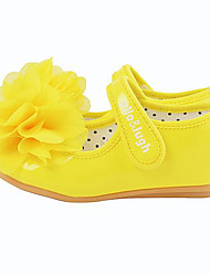 Girl's Flats Fall Ballerina / Round Toe Casual Flat Heel Flower Yellow Others