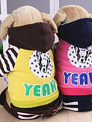 Dog Hoodie Clothes/Jumpsuit Dog Clothes Winter Spring/Fall Color Block Fashion Sports Dark Blue Coffee Red