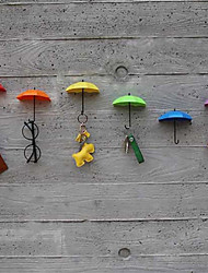 New 3Pcs  Hook Key Hair Pin Holder Organizer Decorative Brand New Umbrella Wall Hooks (Random Hair Color)