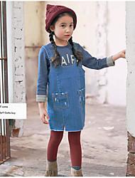 Robe / Ensemble & Combinaison Fille de Couleur Pleine Décontracté / Quotidien Coton Printemps / Automne Bleu
