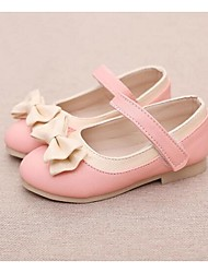 Flats Summer Light Up Shoes PU Casual Flat Heel Bowknot Black Blue Pink Other