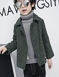 Boy's Casual/Daily Solid Down & Cotton Padded / Suit & BlazerPolyester Winter / Spring / Fall Green / Yellow / Gray