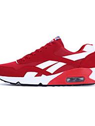 scarpe da ginnastica unisex primavera / cadere il comfort tulle casuale tallone piano nero / blu sneaker / rosso
