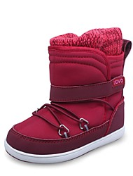 Brand Outlets Girl's Boots Winter Fashion Boots  PU / Synthetic Casual Flat Heel Gore / Magic Tape Burgundy Snow Boots