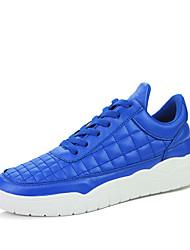 Femme-Bureau & Travail / Décontracté / Sport-Noir / Rouge / Blanc / Bleu royal-Talon Plat-Confort-Sneakers-Cuir / Daim