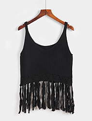 Women's Casual/Daily Street chic Summer Tank TopSolid Round