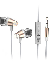 CSONG T6 In-Ear Earphone Stereo Bass 3.5mm Material Metal EarPhone Wire Bass Universal Headsets for iPhone Samsung
