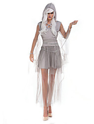 Costumes de Cosplay / Costume de Soirée Ange et Diable Fête / Célébration Déguisement Halloween Gris Couleur PleineRobe / Collier /