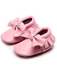 Para Meninas-Mocassins e Slip-Ons-Conforto / Bico Fino-Rasteiro-Rosa-Couro Ecológico-Casual