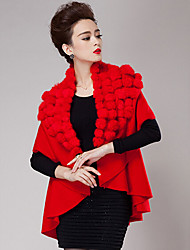Women's Wrap Coats/Jackets Cashmere Black / Khaki / Red / Coffee / Almond Wedding / Party/Evening / Casual Shawl Collar
